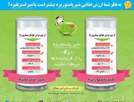 شیر پاستوریزه را یکشنبه و چهارشنبه ها از فروشگاه زکا در بستک تهیه کنید